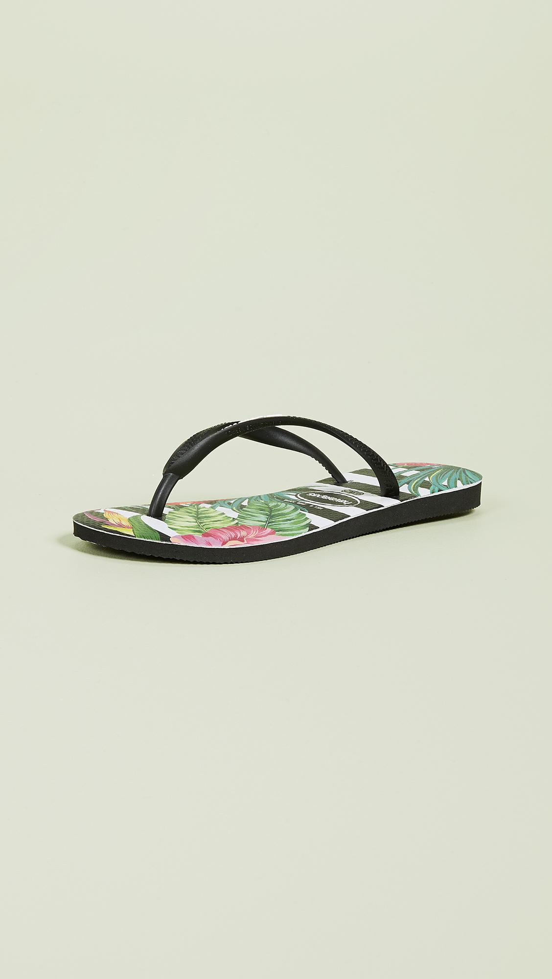 f4584112aac8 Havaianas Slim Tropical Floral Flip Flops