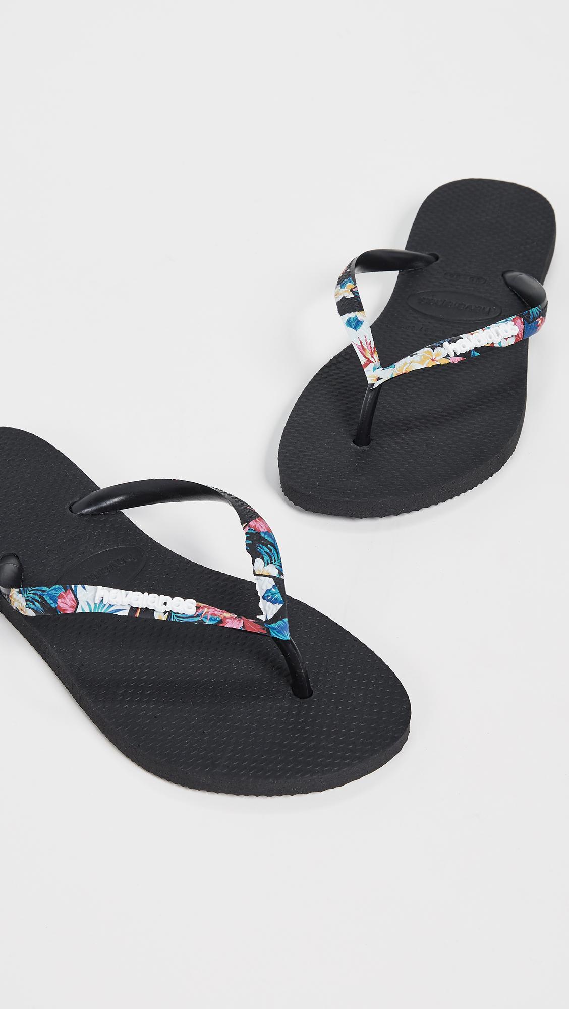 85866bd845731 Havaianas Slim Tropical Strap Flip Flops