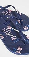 Havaianas 细窄花朵夹趾凉鞋