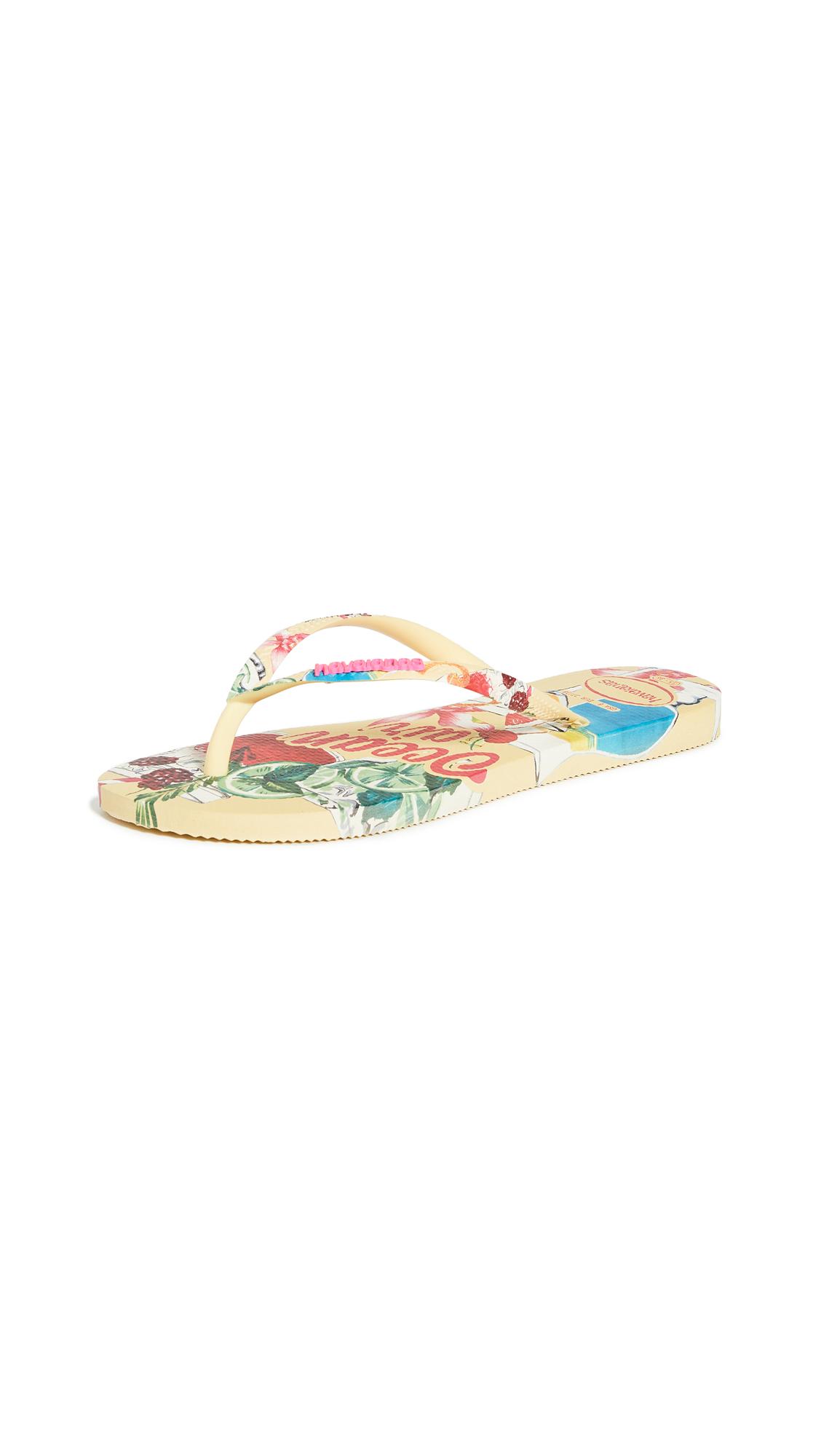 Buy Havaianas Slim Summer Flip Flops online, shop Havaianas