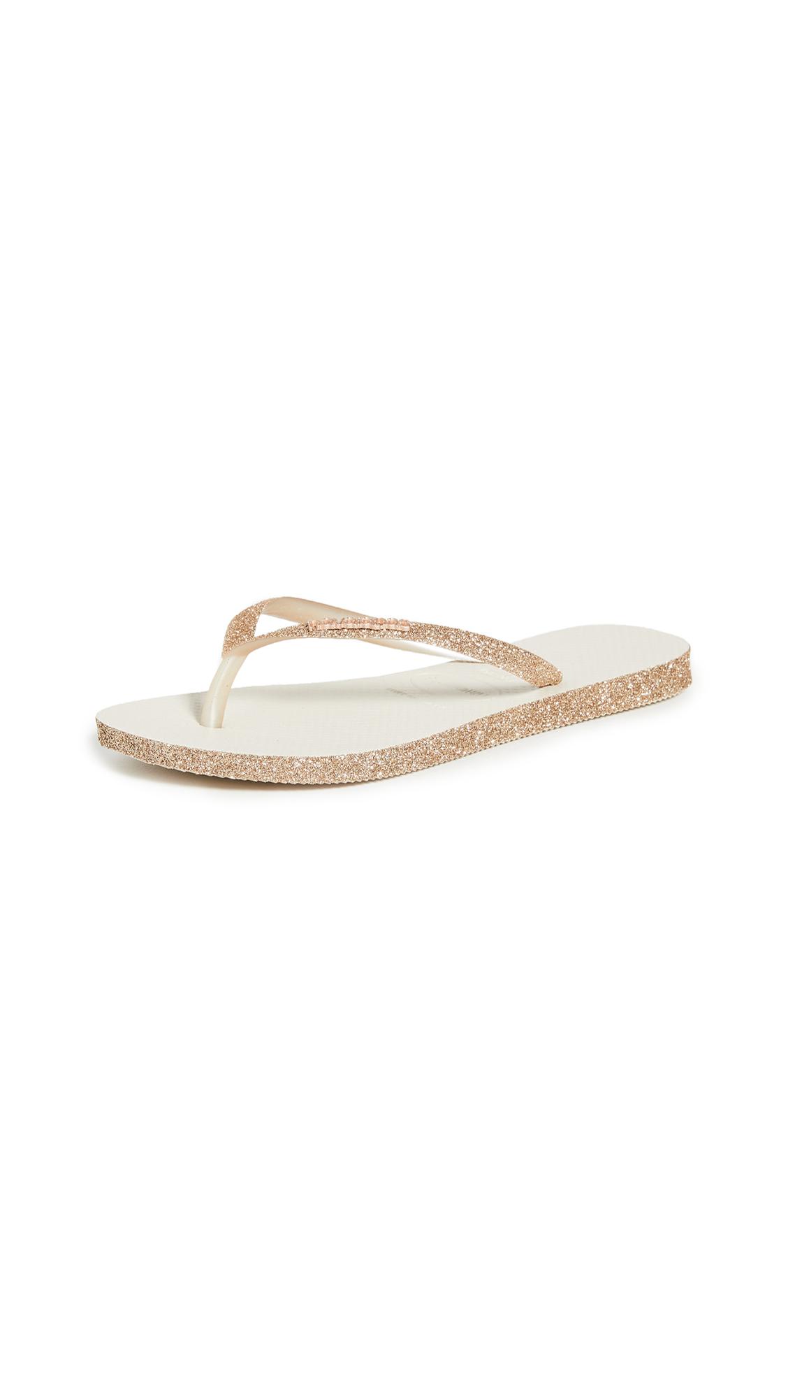 Buy Havaianas Slim Sparkle Flip Flops online, shop Havaianas