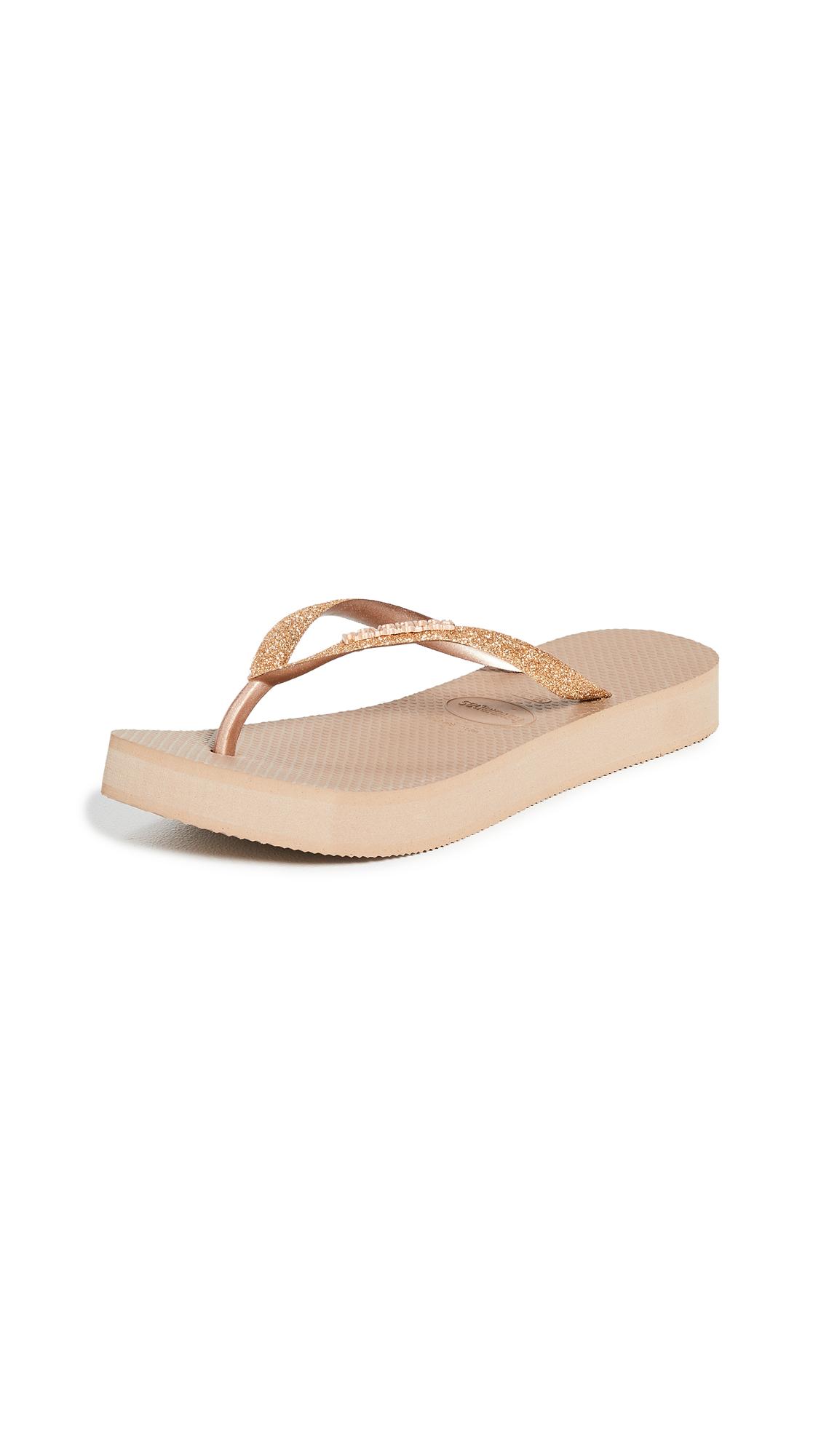 Buy Havaianas Slim Flatform Glitter Sandals online, shop Havaianas