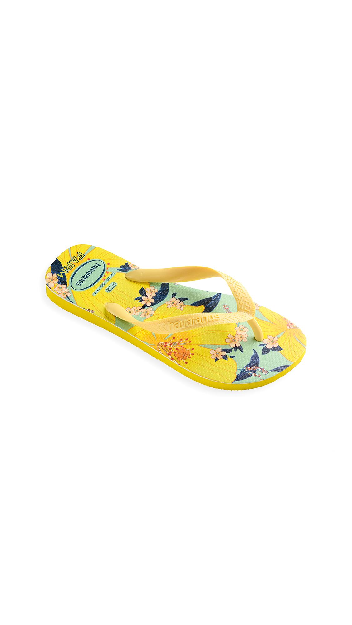 Buy Havaianas x Farm Rio Flowers Sandals Citrus online, shop Havaianas