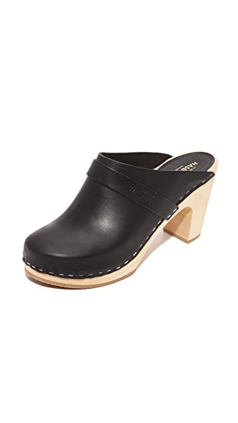 Swedish Hasbeens Slip In Classic Clogs - Black at Shopbop