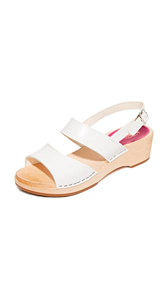 Swedish Hasbeens Helena Sandals - White