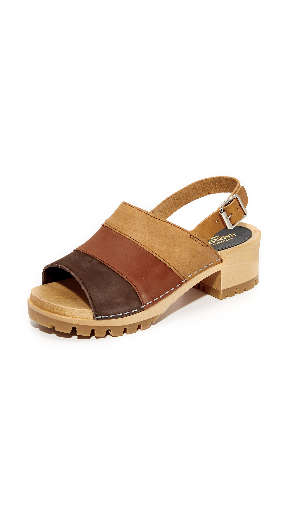 Swedish Hasbeens Hippie Sandals - Brown Combo