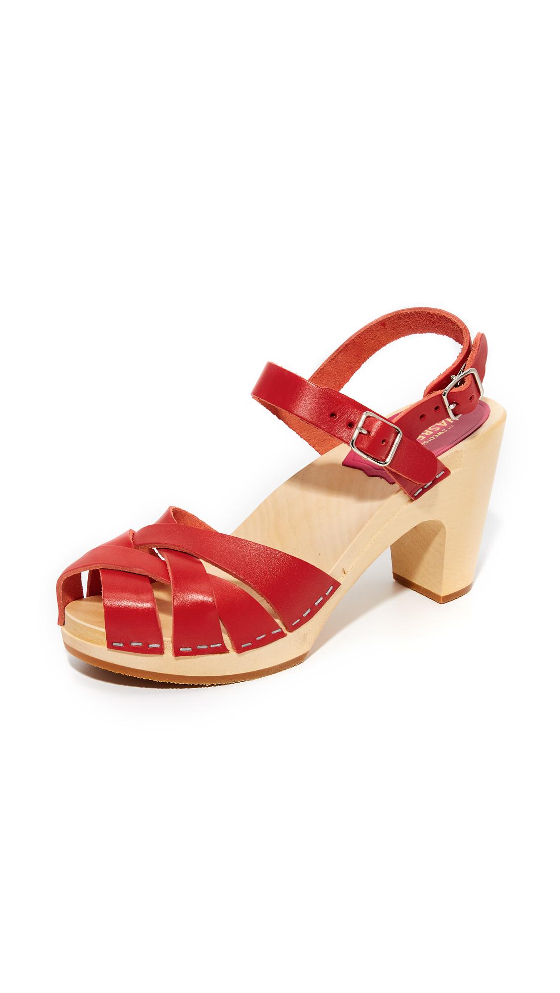 Swedish Hasbeens Katja Sandals - Red