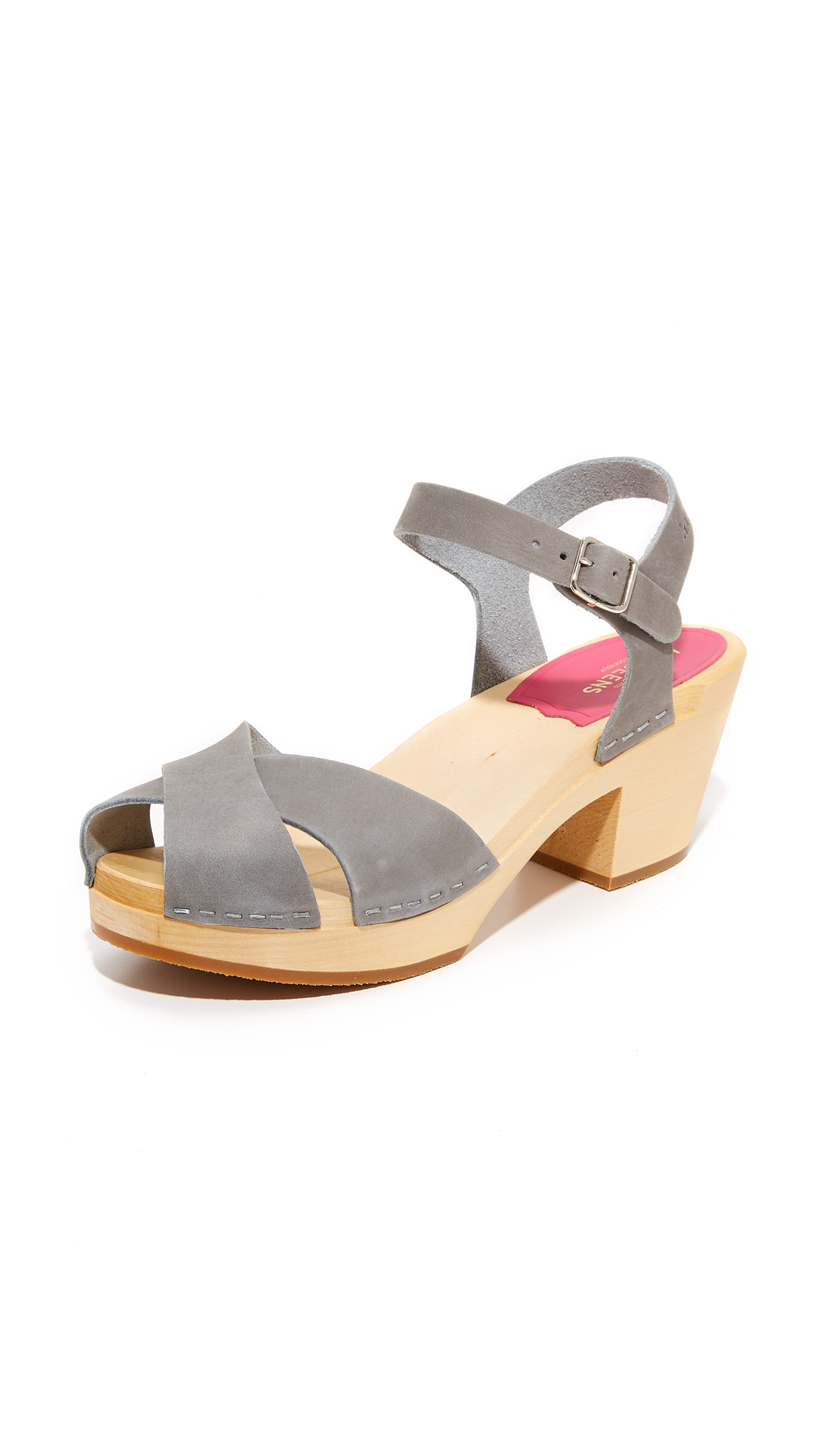Swedish Hasbeens Mirja Sandals - Grey