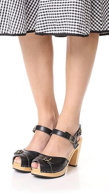 Swedish Hasbeens Preppy Sky High Sandals