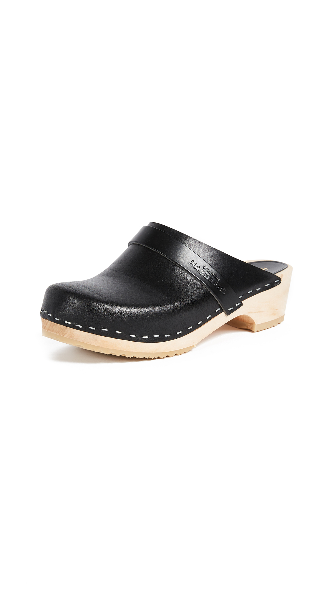Swedish Hasbeens Swedish Husband Clogs - Black
