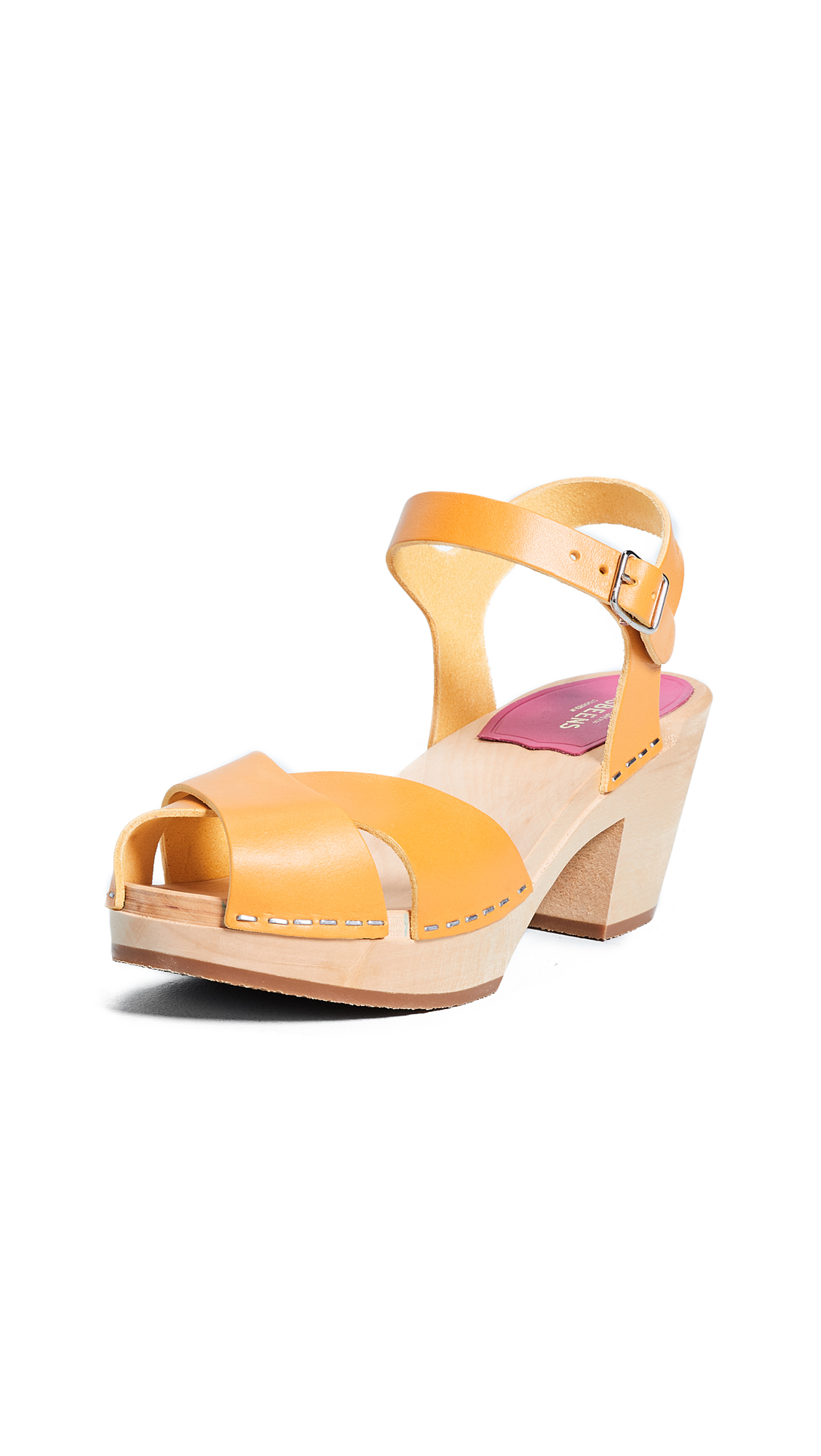 Swedish Hasbeens Mirja Sandals - Warm Yellow