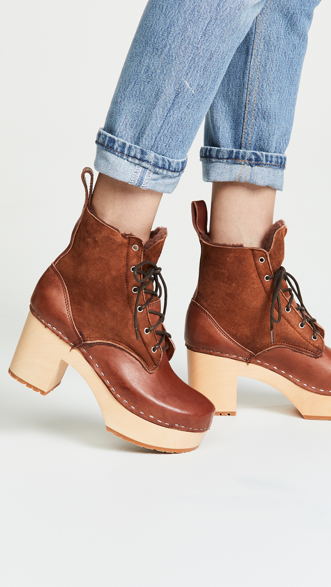 e0f409b15d1 Swedish Hasbeens Hippie Lace Up Boots