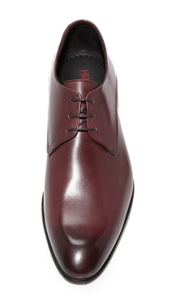 HUGO Burnished Toe Lace Up Derbys
