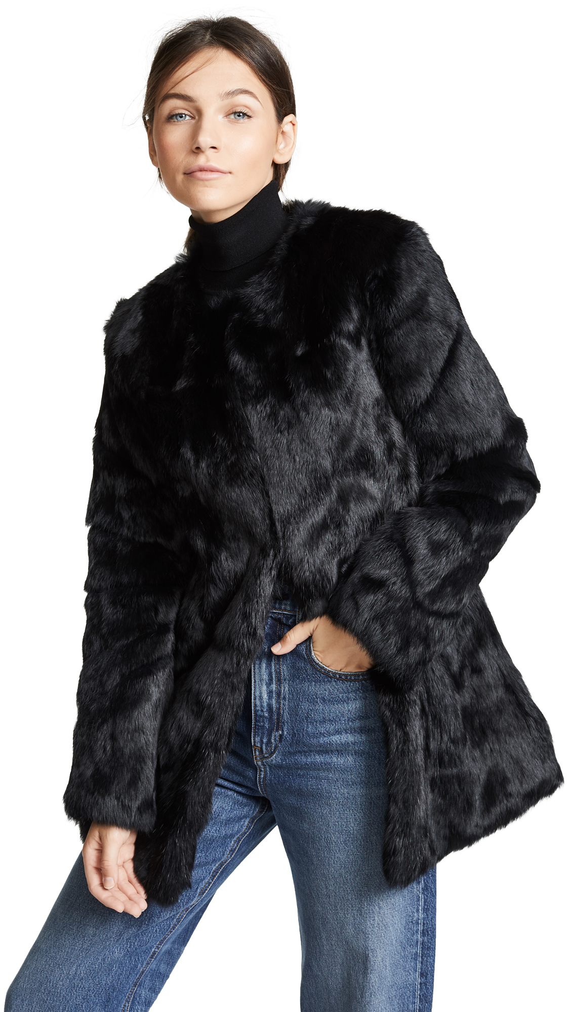 H Brand Alyssa Rabbit Fur Coat