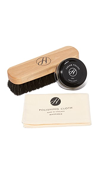 H by Hudson Black Shoe Care Kit