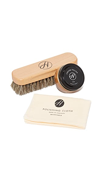 H by Hudson Tan Shoe Care Kit