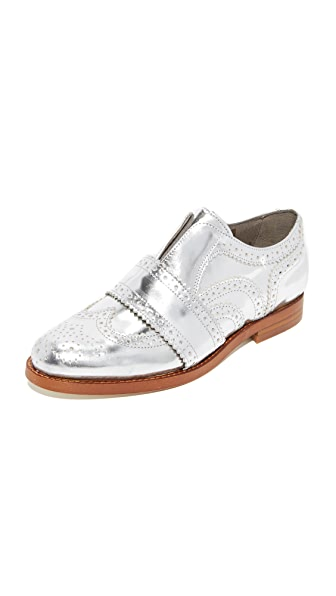 Hudson London Maddie Oxfords - Silver