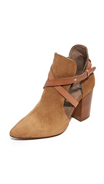 H by Hudson Geneve Cut Out Booties - Cognac
