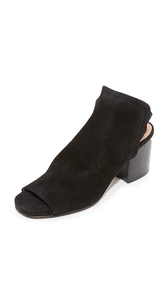 H by Hudson Haiti Suede Slingback Heels - Black
