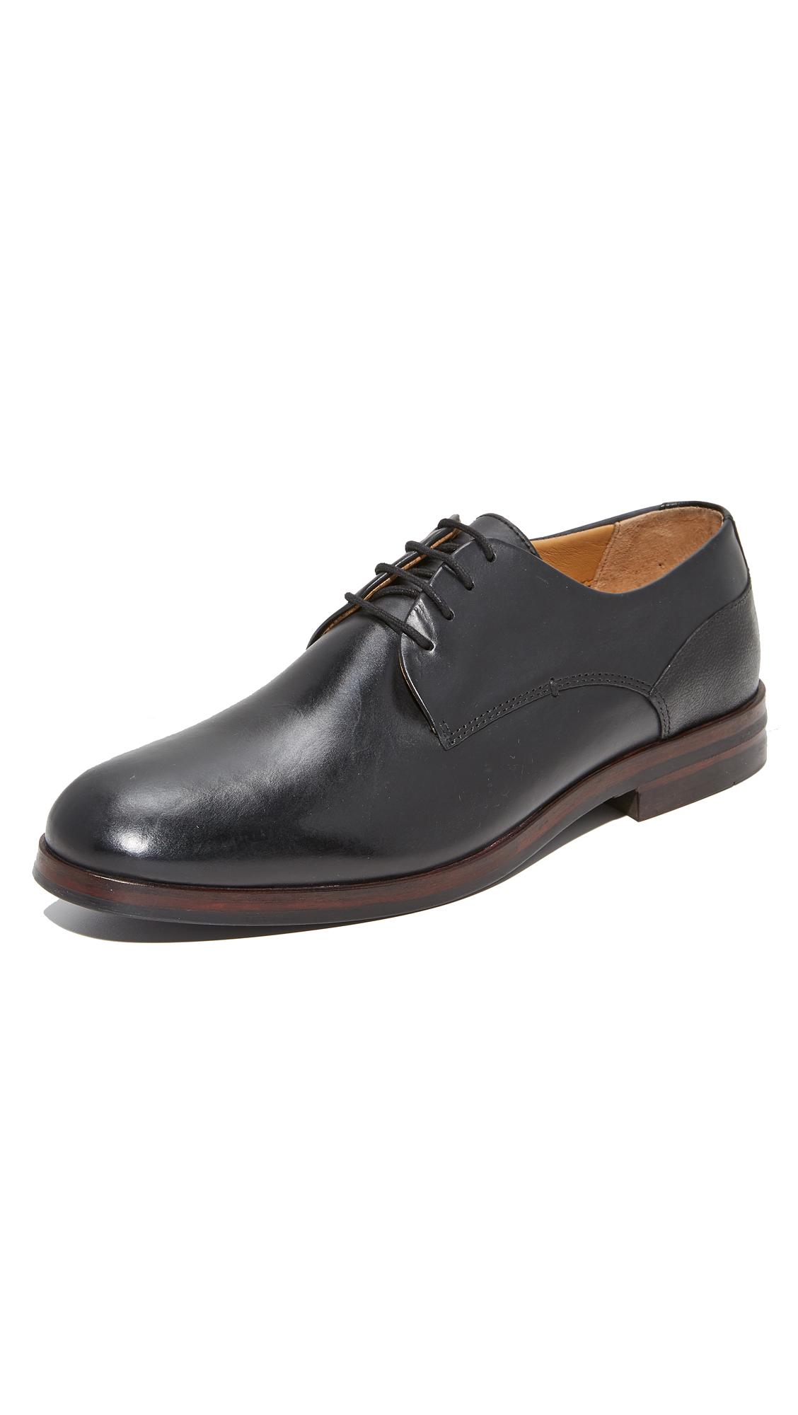 Hudson London Enrico Plain Toe Lace Up Oxfords