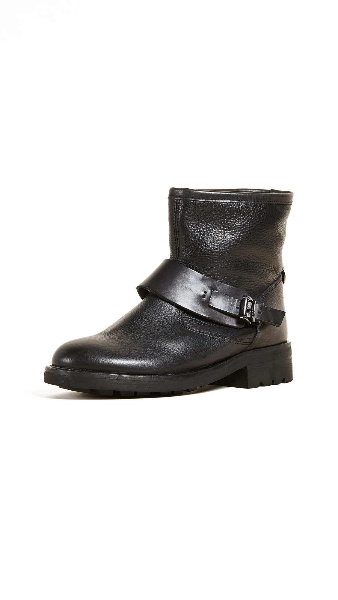 Hudson London Mac Buckle Booties - Black