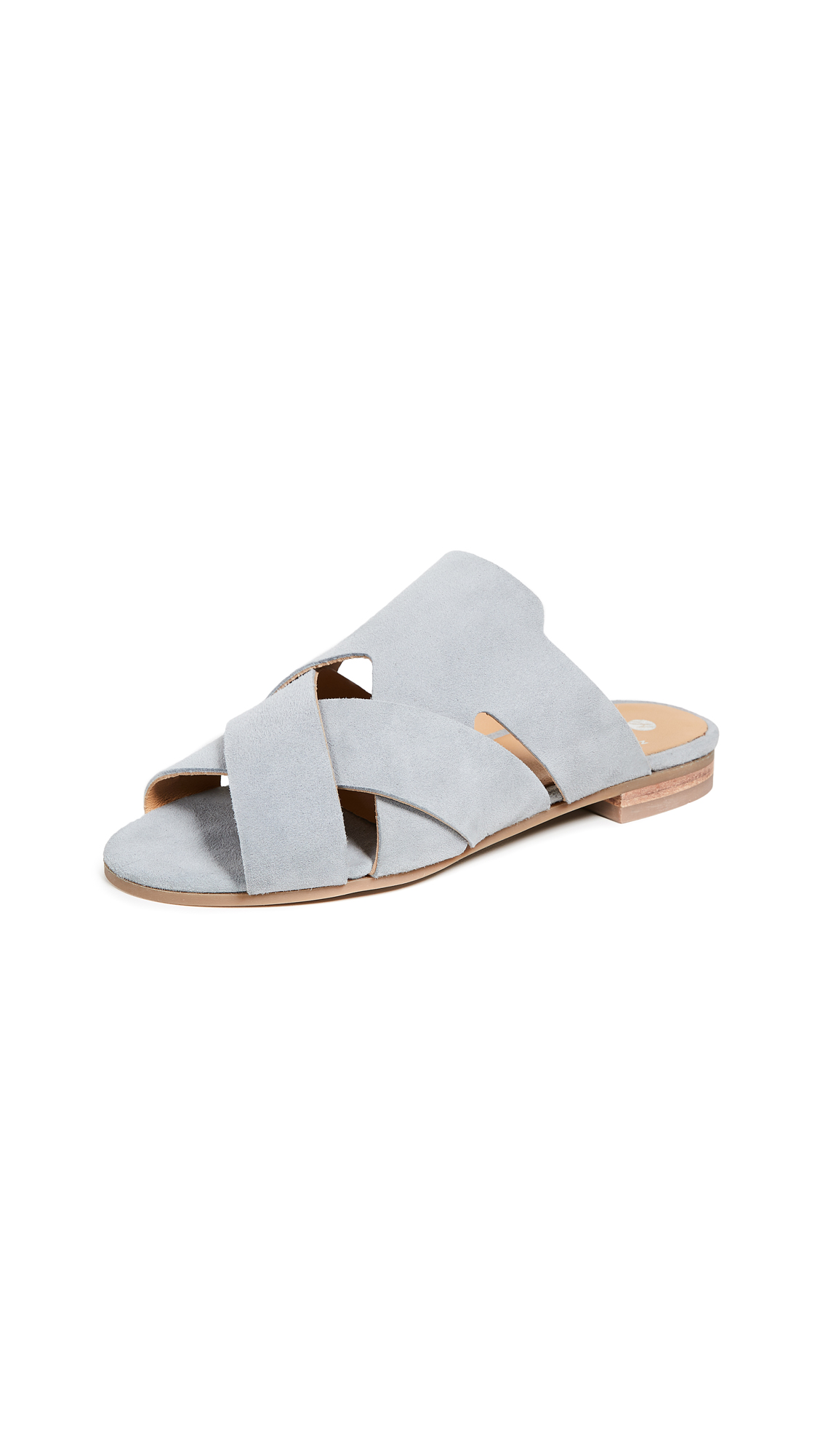 Hudson London Open Toe Slides - Grey