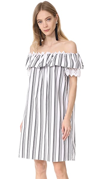 Holy Caftan Adina Cover Up Dress - Dafne Black/White