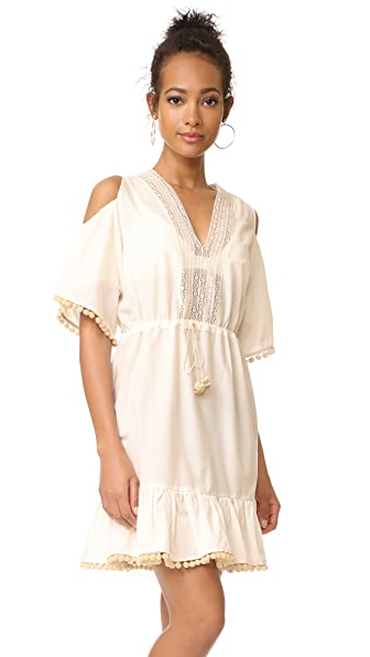 Holy Caftan Camila Cover Up Dress - Milk