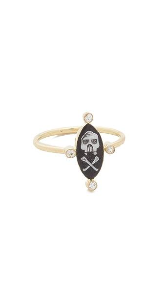 Holly Dyment Little Skull Black Ring