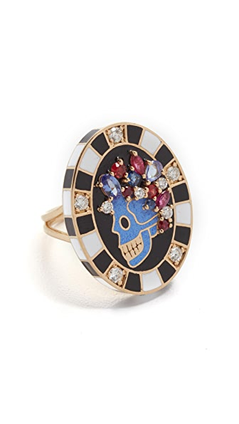 Holly Dyment Saturday Enamel Ring - Multi
