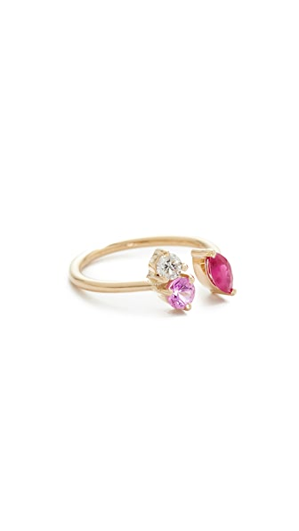 Holly Dyment 18k Gold Pink Sapphire Ring - Pink