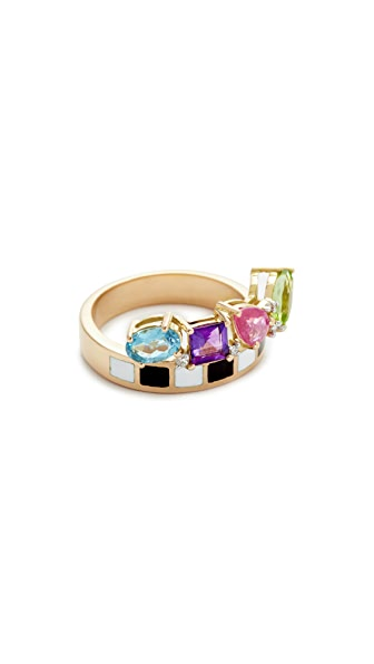 Holly Dyment Go Lightly Enamel Ring - Multi