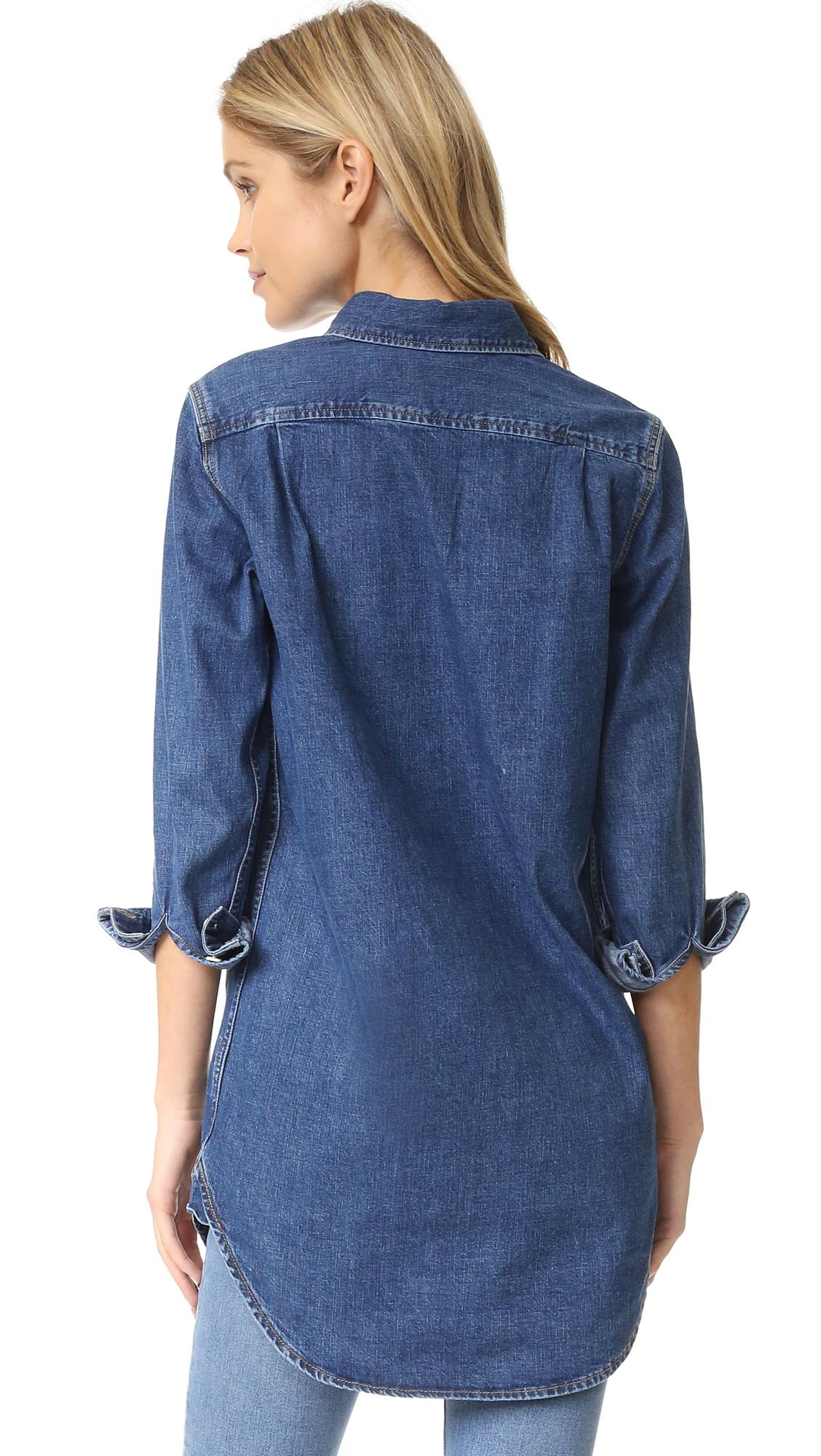 3daf8d181470dc M.i.h Jeans Denim Oversized Shirt   SHOPBOP
