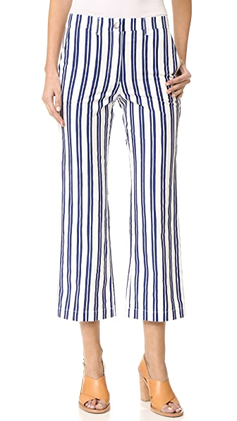 M.i.h Jeans Coler Flare Pants In Finnish Stripe
