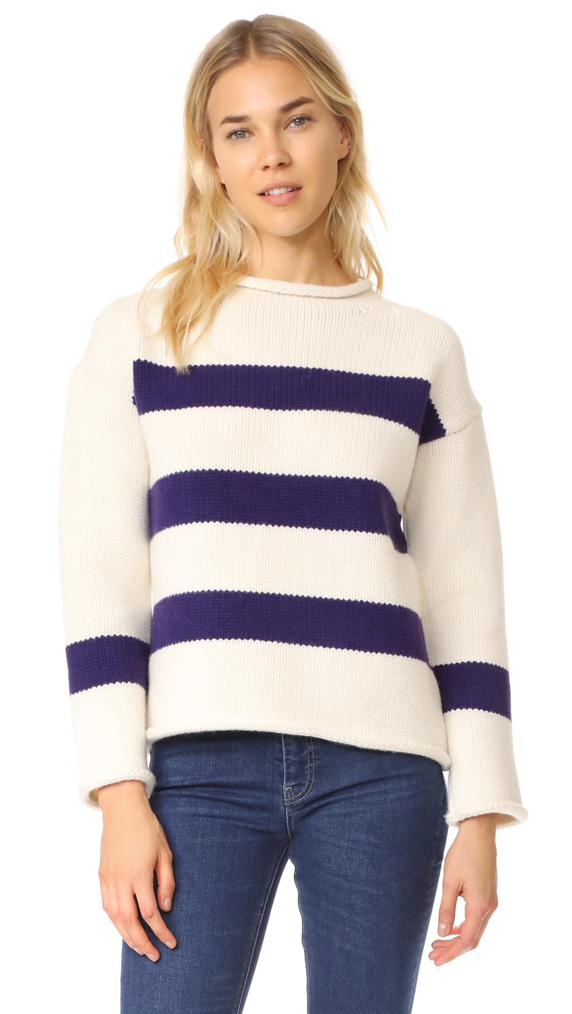 M.i.h Jeans Yardley Sweater - Buttermilk/Grape