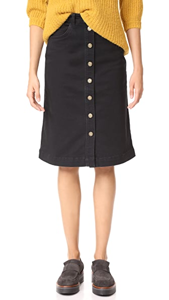 M.i.h Jeans Platan Skirt In Black