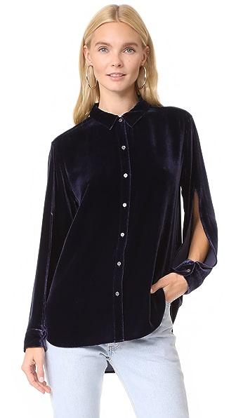 M.i.h Jeans Rhoda Shirt In Violet Indigo