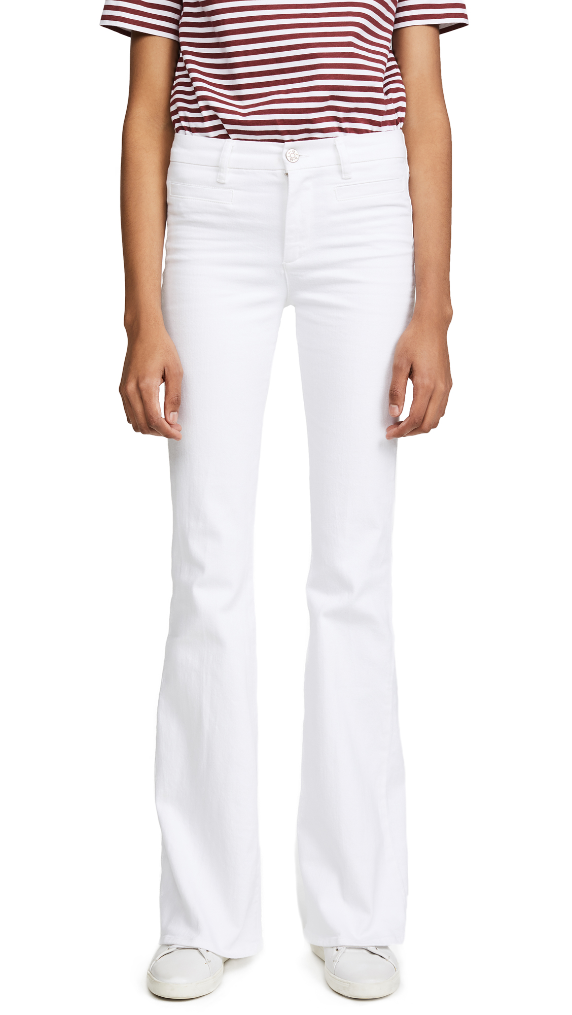M.i.h Jeans Marrakesh Flare Jeans In New White