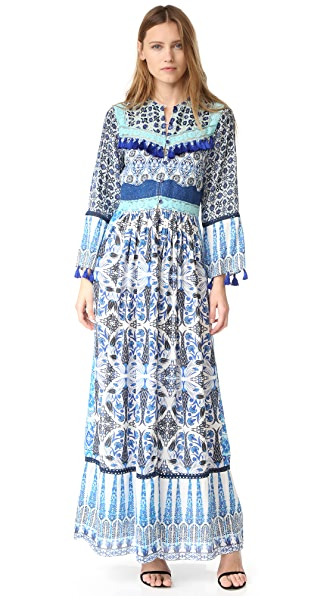 Hemant and Nandita Ceramic Long Dress - Blue
