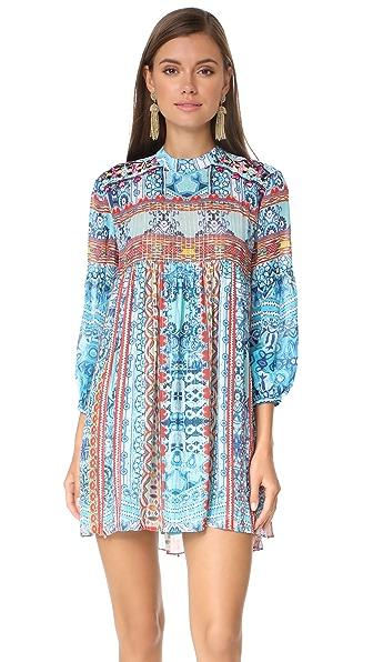Hemant and Nandita Tunic Dress In Turquoise