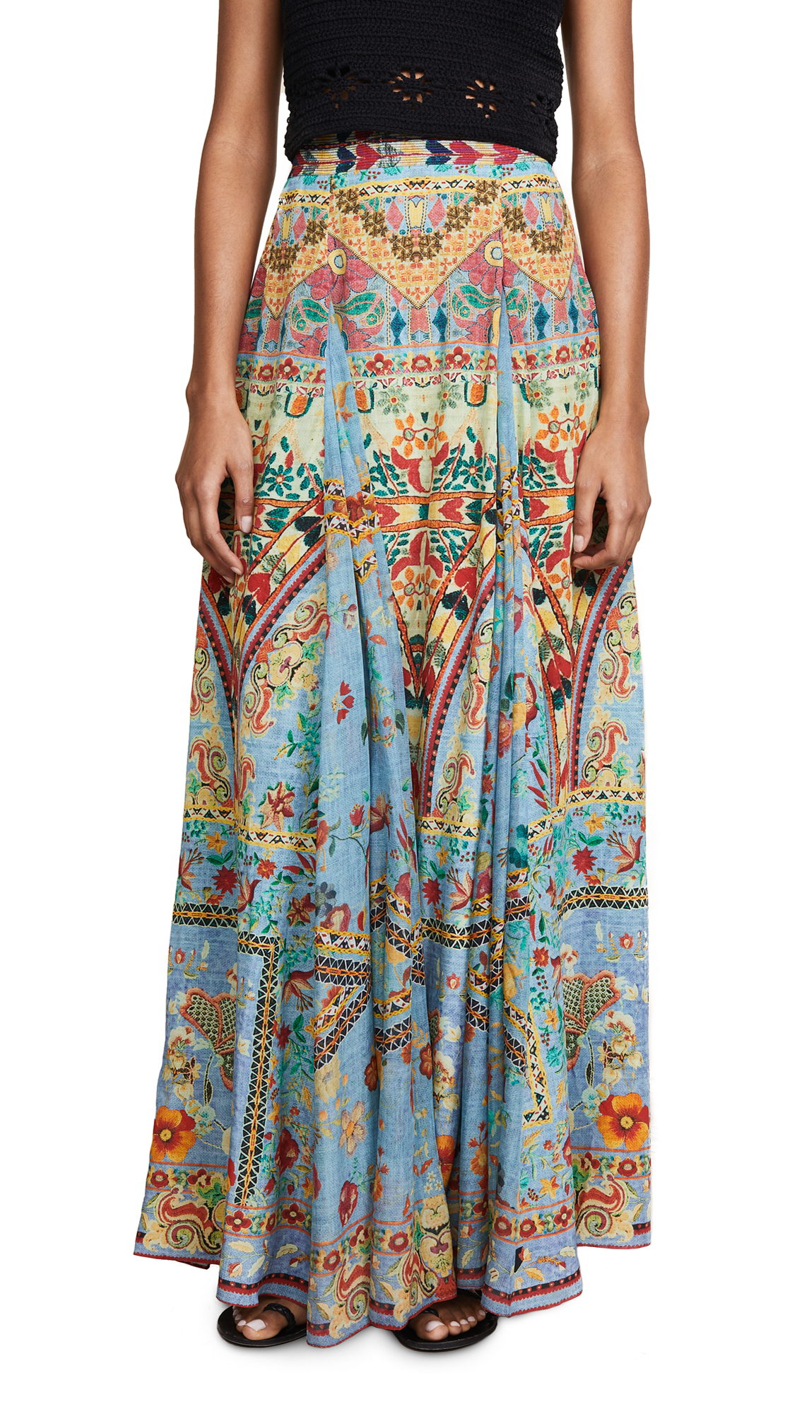 Hemant and Nandita Clara Long Skirt In Light Blue