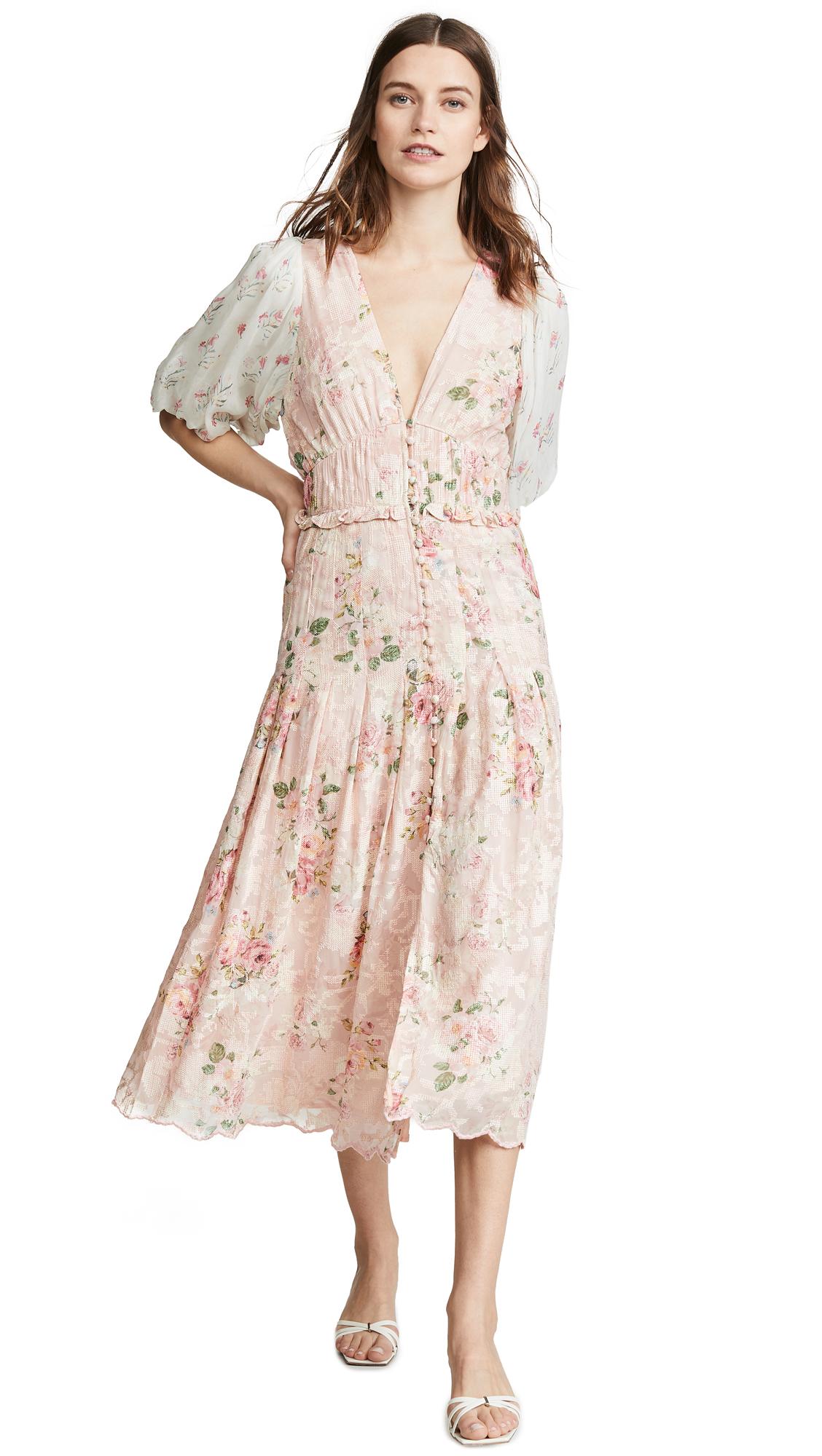 Hemant and Nandita Long Dress - Coral