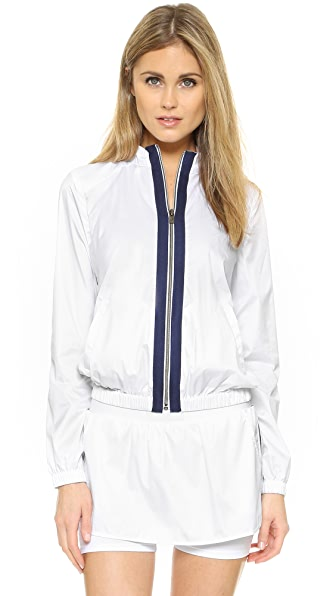 Heroine Sport Tennis Training Jacket - White/Navy