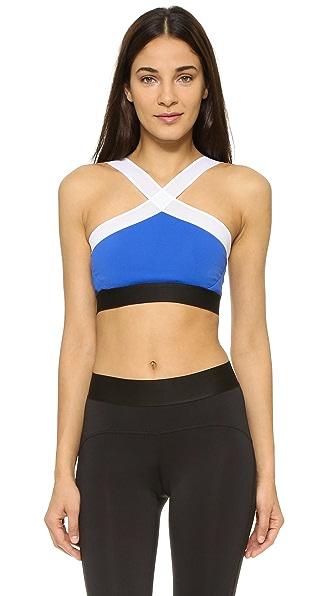 Heroine Sport Studio X Bra In Cobalt/White
