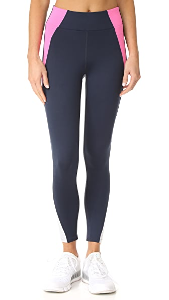 Heroine Sport Tread Leggings In Shock Pink/Navy