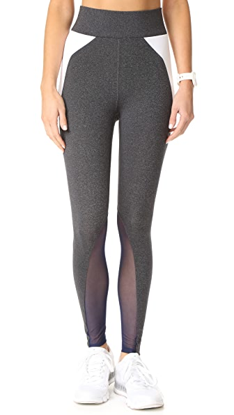 Heroine Sport Riding Leggings In Coal/White/Navy