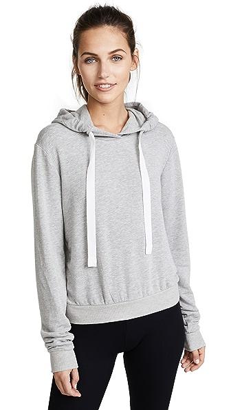 Heroine Sport Crop Hoodie In Gray