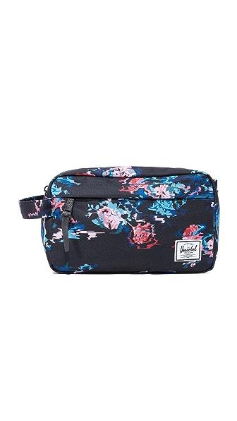 Herschel Supply Co. Chapter Travel Kit - Floral Blur/Black