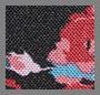 Floral Blur/Black