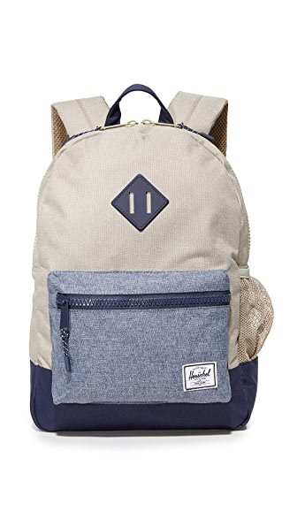 Herschel Supply Co. Heritage Youth Backpack - Light Khaki Crosshatch/Dark Ch